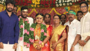 Sivakarthikeyan congratulates the bride and groom
