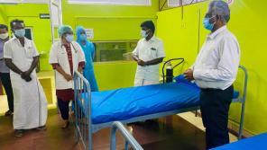 Health Minister C Vijayabaskar's Surprise visit to Gandharvakottai GH in Pudukkottai