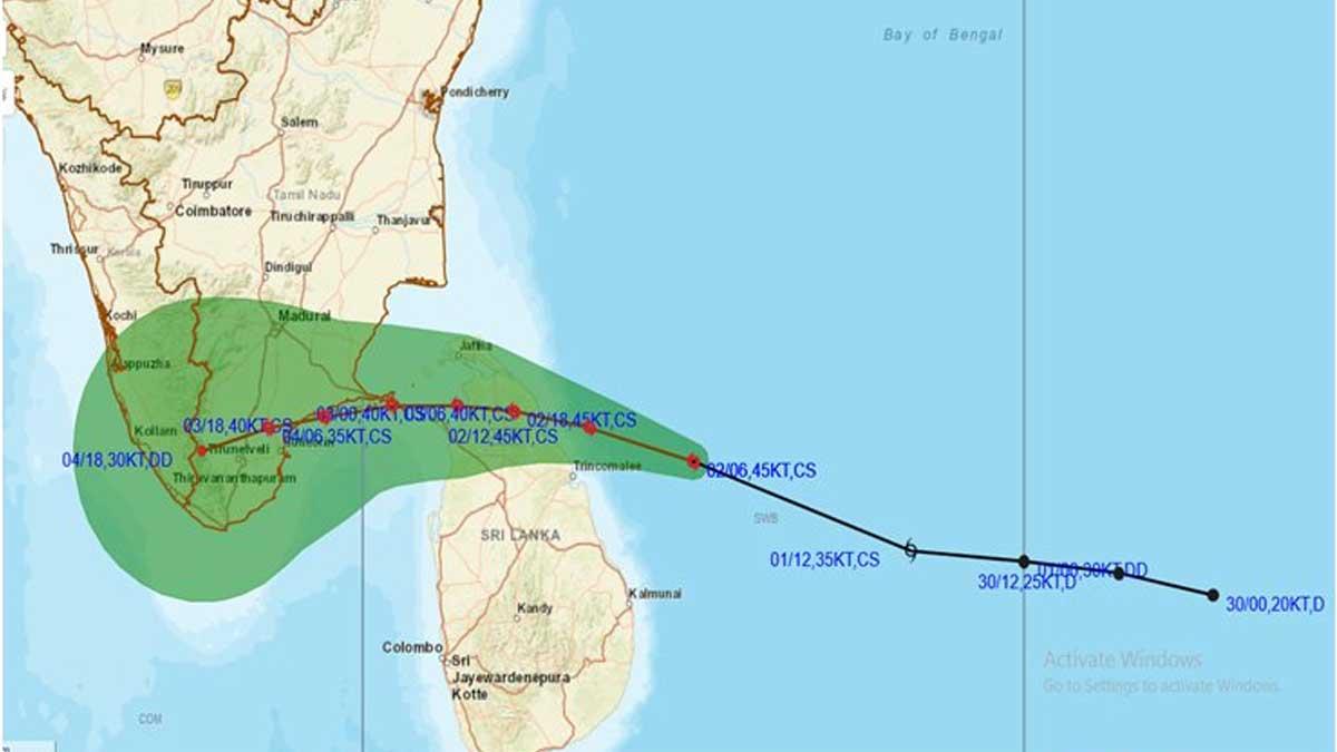 Burevi cyclone from Sri Lanka
