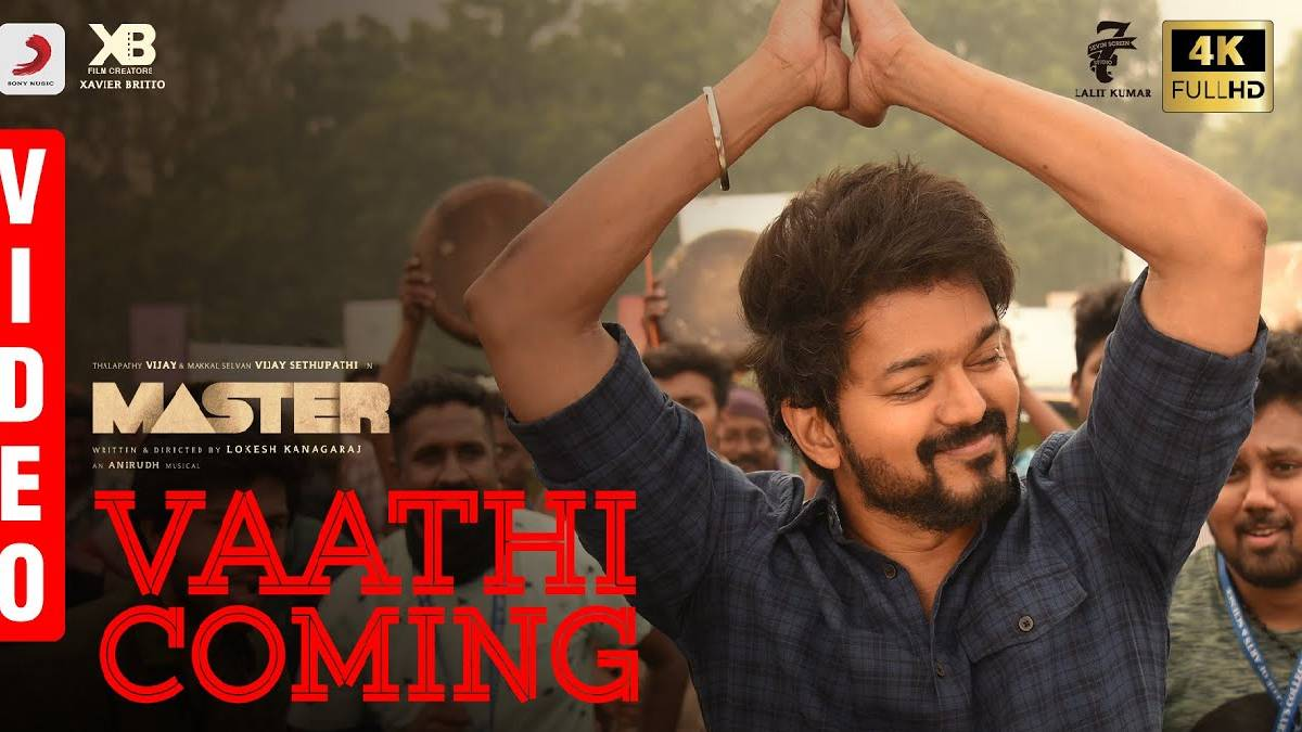 Vaathi coming song poster