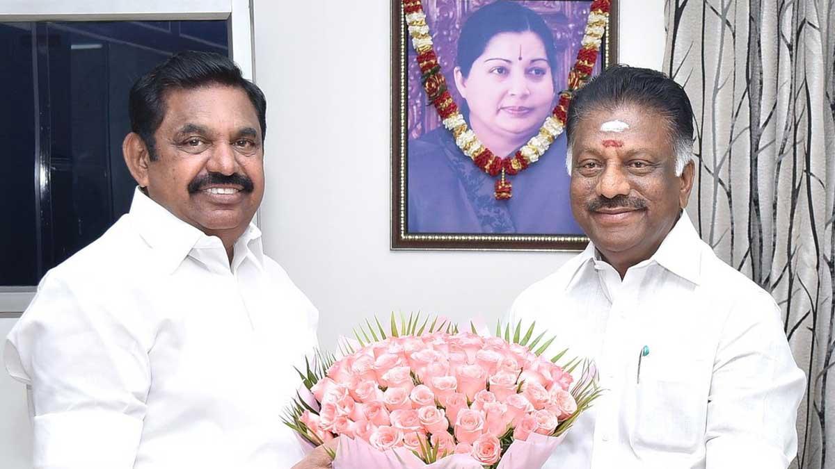 CM Edappadi Palanisamy and Deputy CM O Panneerselvam