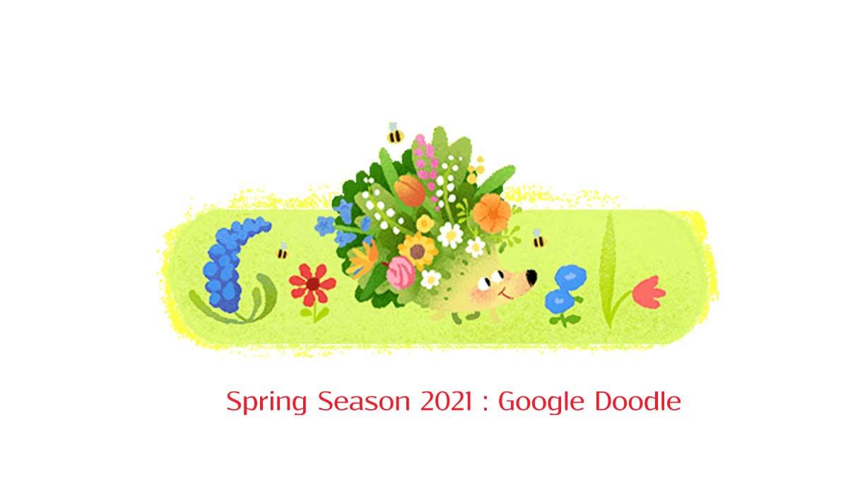 Google Doodle celebrates Spring