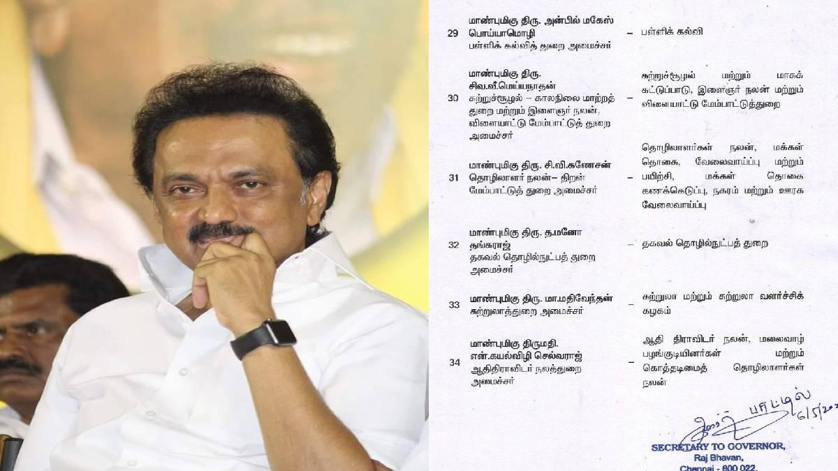 DMK cabinet list released