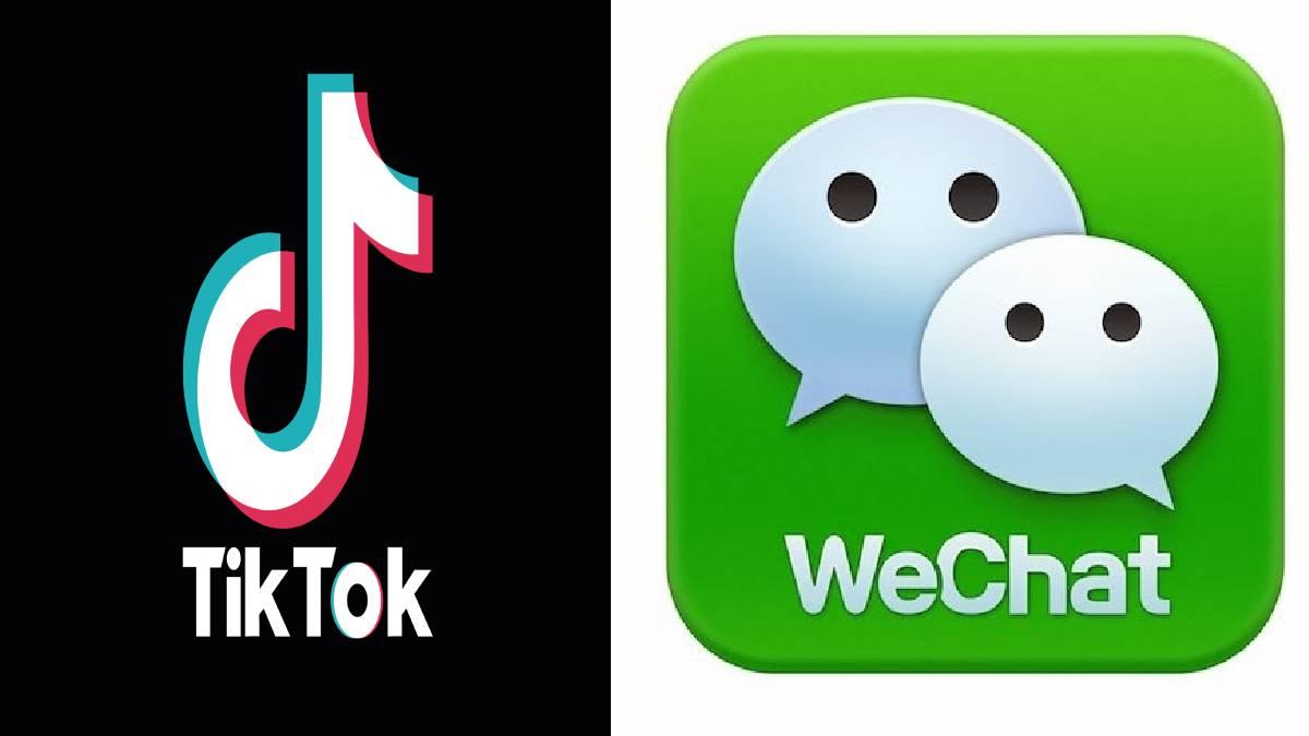 Tiktok and Wechat Logo