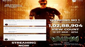 Valimai motion picture crossed 10 million plus views