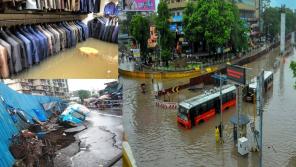 Rainfall and landslide in Mumbai