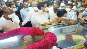 CM MK Stalin Tribute to Former Minister Madhusudhanan