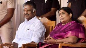 Panneerselvam With His Wife Vijayalakshmi